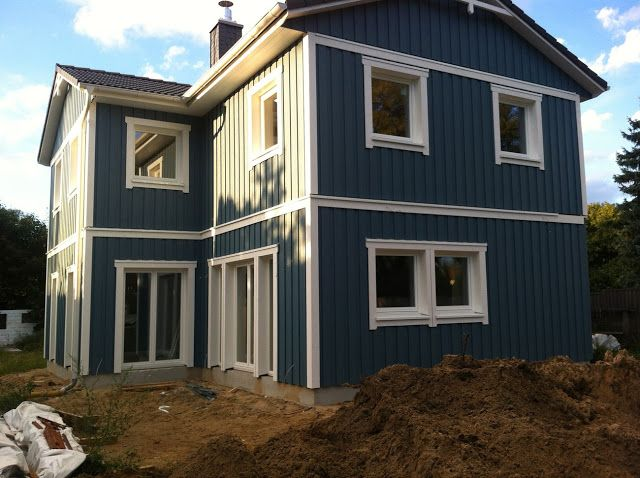 mein blaues schwedenhaus hausfassaden pinterest haus haus bauen und holzhaus. Black Bedroom Furniture Sets. Home Design Ideas