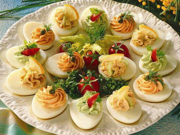 Gefüllte Eier - Rezepte für Brunch und Buffet #buffet