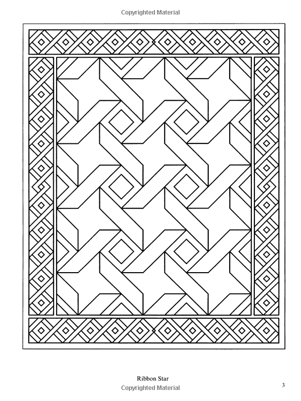 Traditional Patchwork Quilt Designs (Dover Design Coloring Books ...