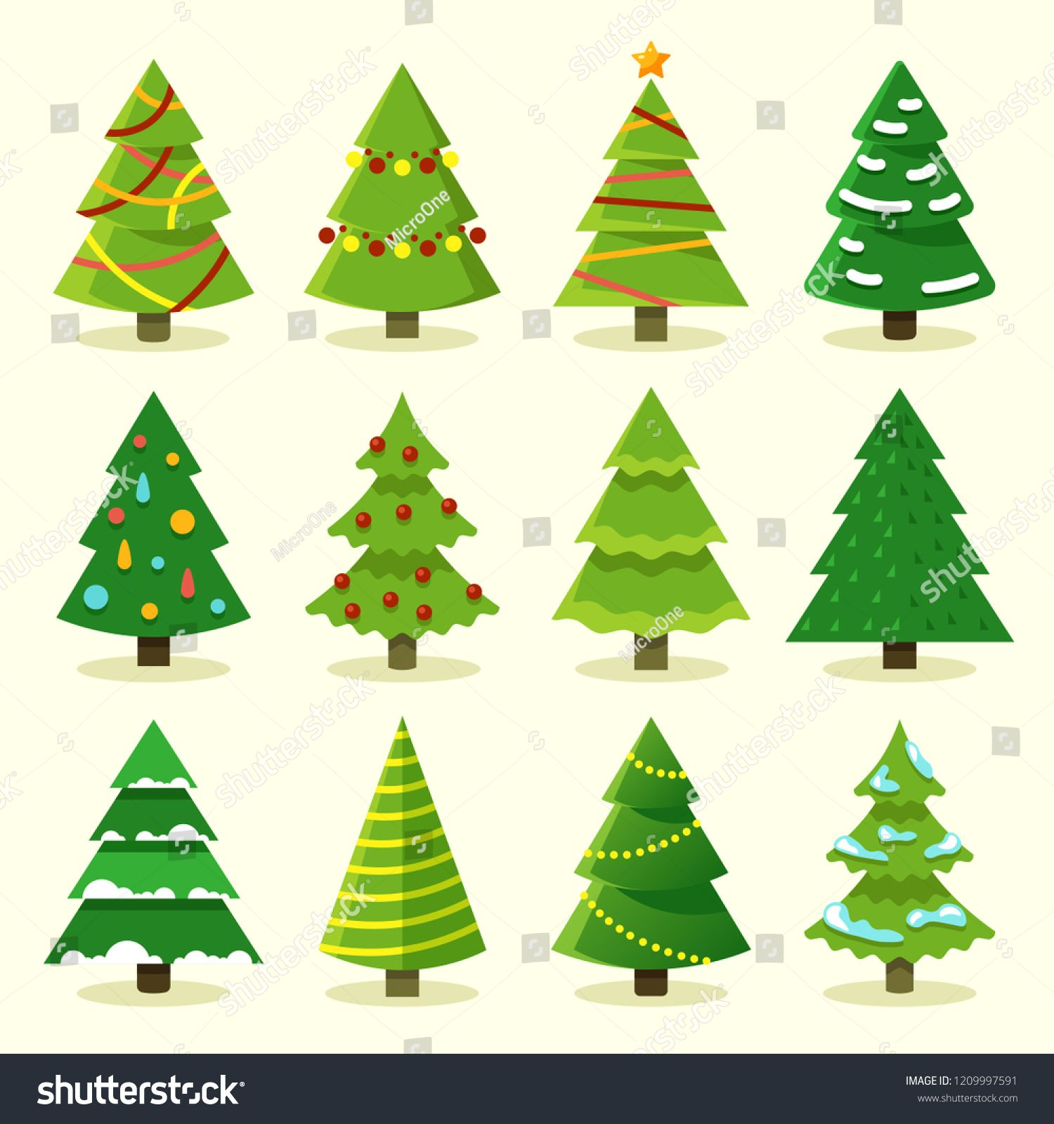 Winter Colorful Cartoon Christmas Tree Vector Set Ad Sponsored Cartoon Colorful Winter Ch In 2020 Cartoon Christmas Tree Christmas Tree Graphic Christmas Drawing