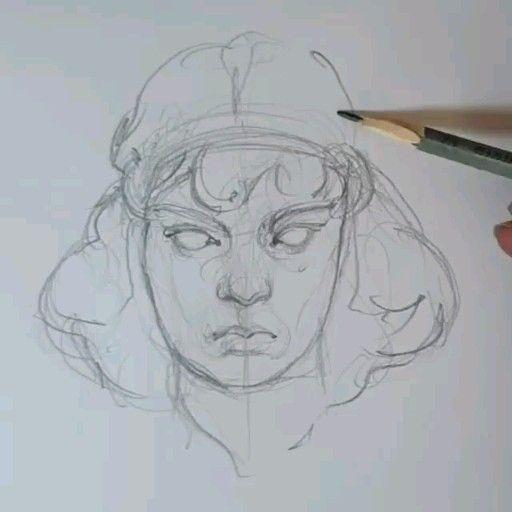 Photo of Как рисовать лицо построение девушка портрет красивая модель женская картина #mood sketch женщина