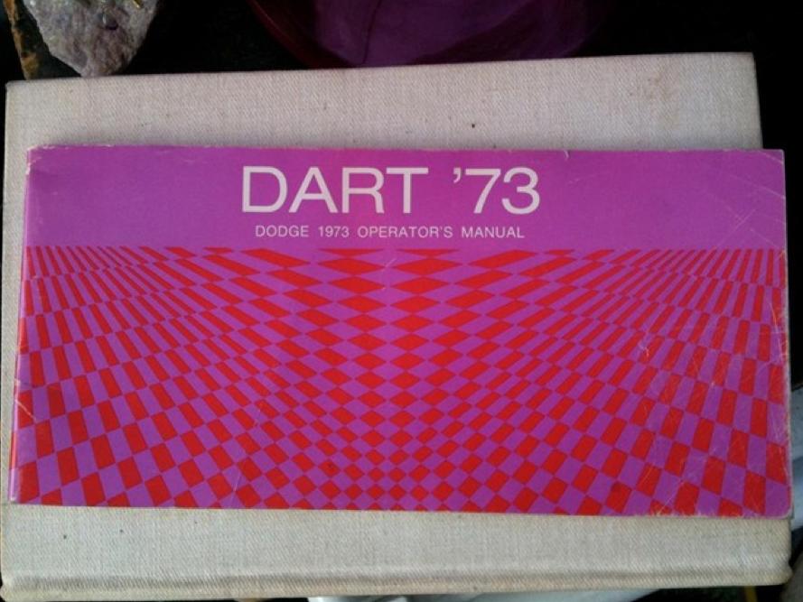 DODGE Dart 1973 Owner/'s Manual 73 Dart