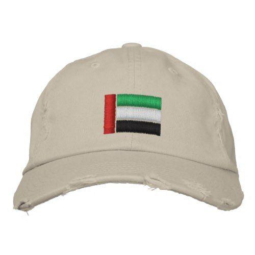 United Arab Emirates Flag Embroidered Baseball Hat