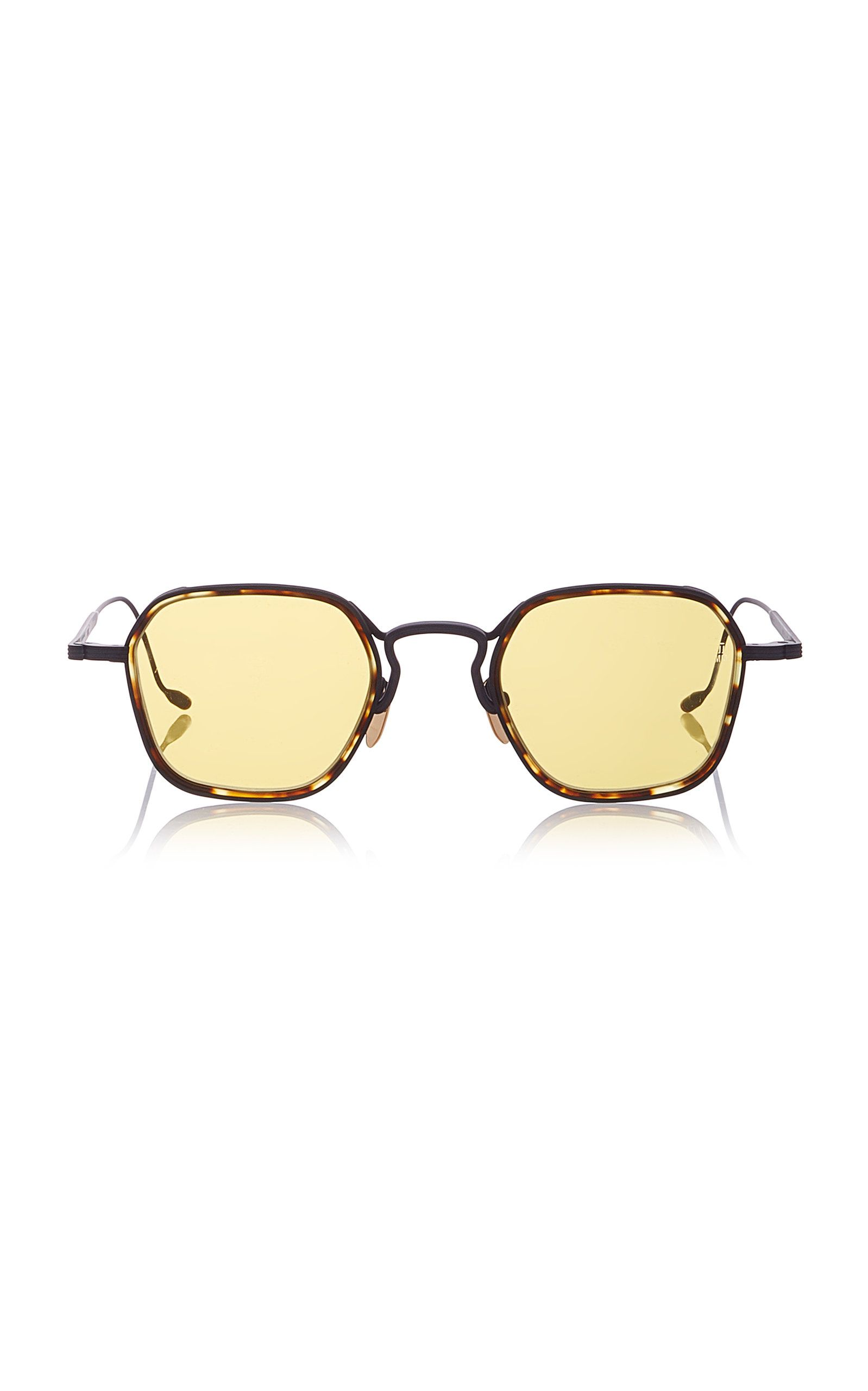 fbc04673d3c JACQUES MARIE MAGE WYATT HEXAGON-FRAME TORTOISESHELL WIRE SUNGLASSES.   jacquesmariemage