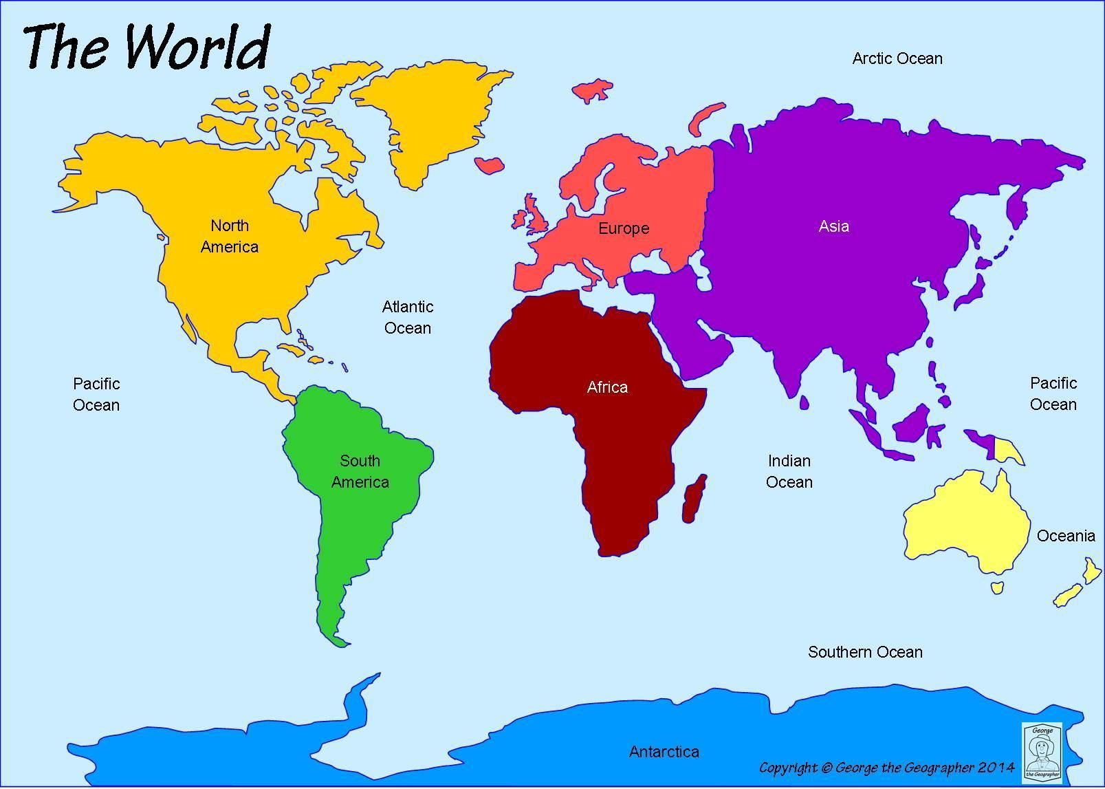 World Map Labeled World Map With Seas Labeled And Travel