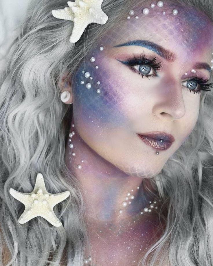 Pin By Brenditahu On Maquiagem De Carnaval Mermaid Face Paint Mermaid Makeup Halloween Makeup Looks