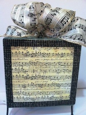 music glass block music notes lighted glass block handmade room decor lighted centerpiece - Glass Sheet Teen Room Decor