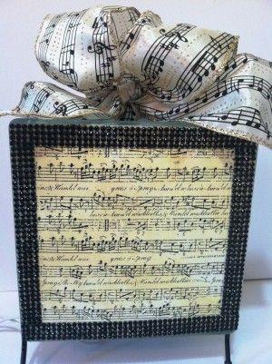 music glass block music notes lighted glass block handmade room decor lighted centerpiece - Glass Sheet Teen Room Decor
