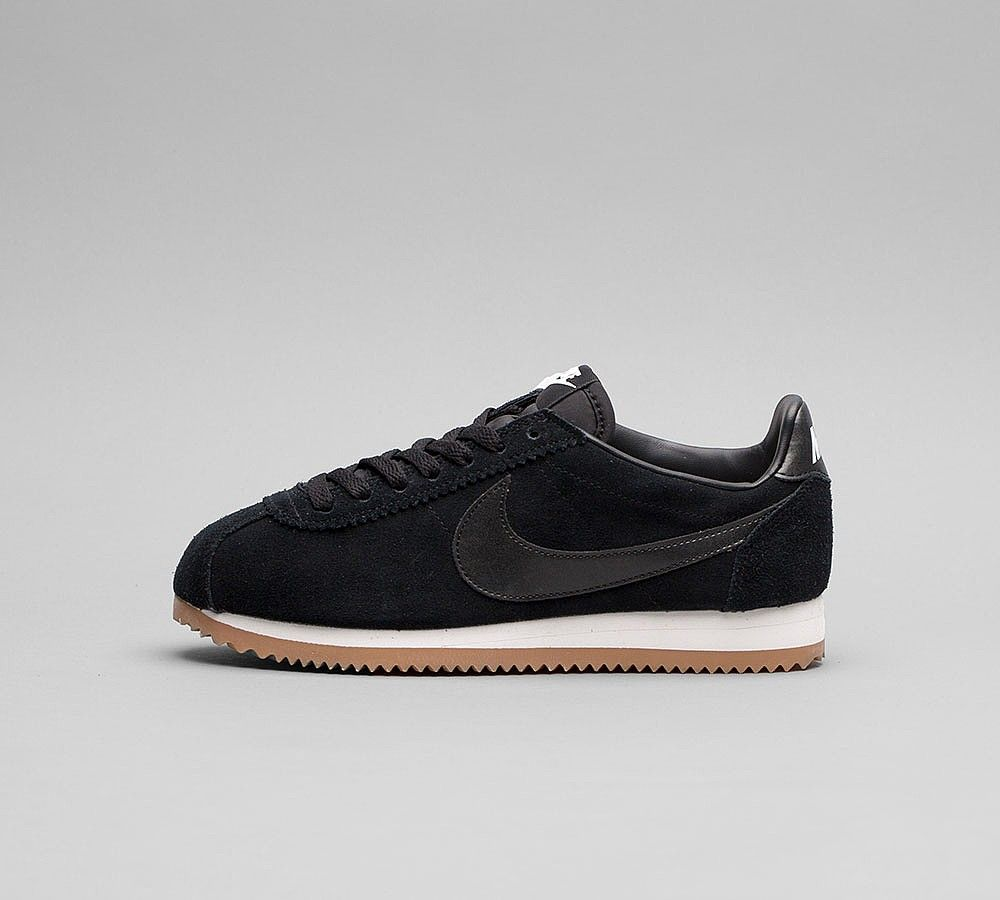 Nike Womens Classic Cortez Suede Trainers in Black and White. premium suede  construction with foam wedge midsole for soft cushioning and rubber outsole  for ...