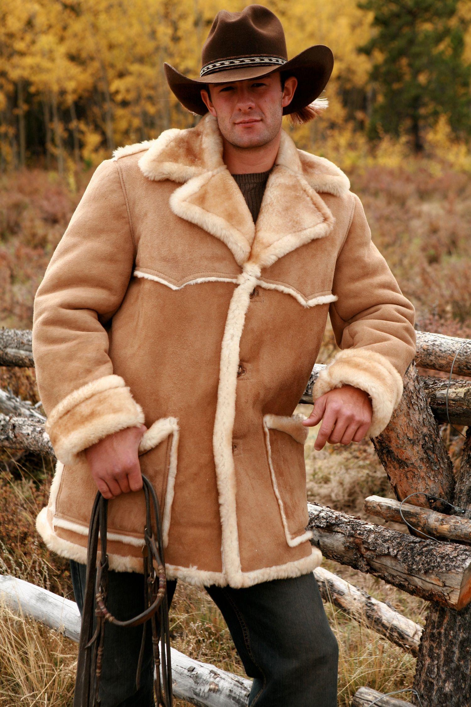 Men's Rancher Sheepskin Coat Mens shearling jacket