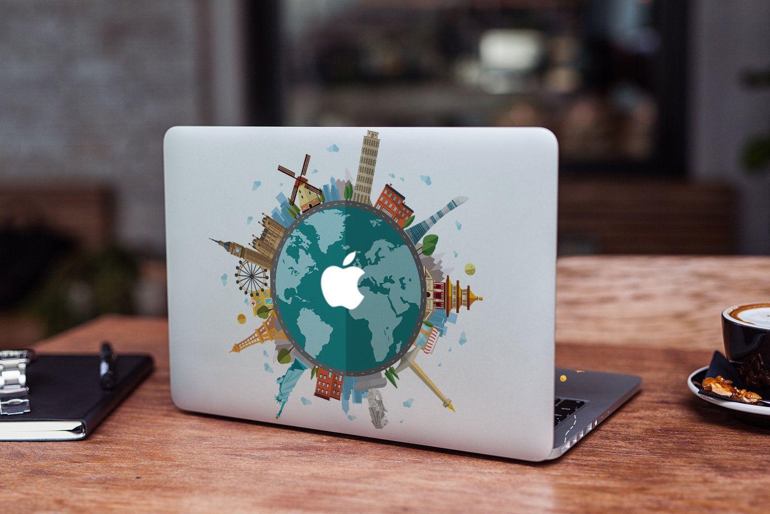 Macbook Pro 13 Around the World Skin Macbook 2016 Decal