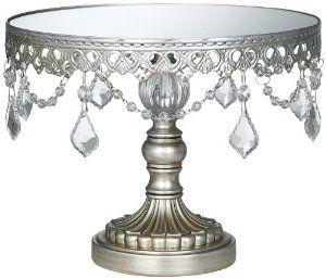 Amazon.com - Antique Silver Beaded Small Cake Stand - Home Decor Accents  sc 1 st  Pinterest & Amazon.com - Antique Silver Beaded Small Cake Stand - Home Decor ...
