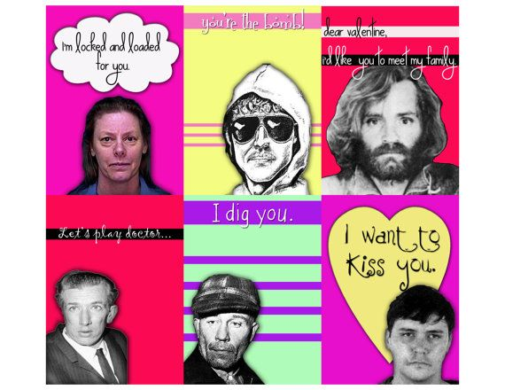 Fesselnd Serial Killer Valentine Version 3 Assortment 6 To A Sheet