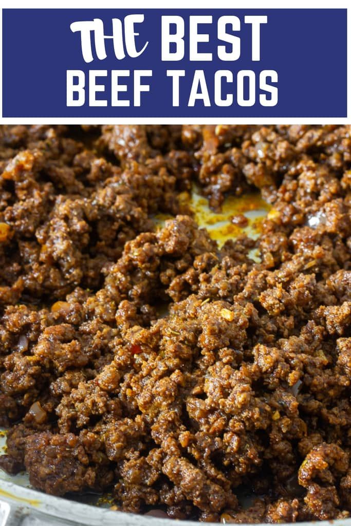 Best Classic Ground Beef Tacos #tacorecipes
