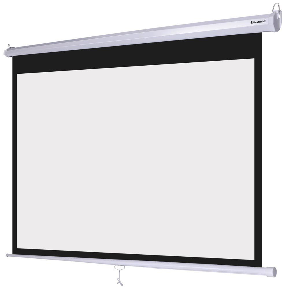 Instahibit 72 Diagonal 16 9 Manual Pull Down Projection Screen Self Locking 63 X 35 White Pull Down Projector Screen Projection Screen Home Theater Projectors