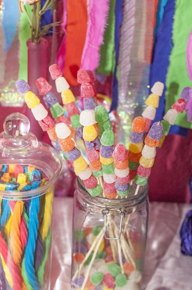 Candyland Birthday Party Ideas Crafts For Kids Rainbow Birthday
