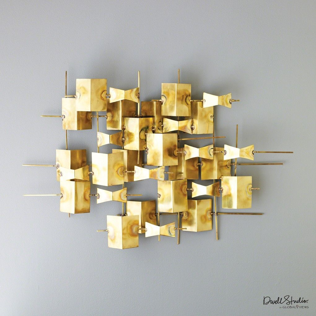Folded Brass Wall Decor #TheDesignNetwork #ShopTDN #glam #glamdecor ...