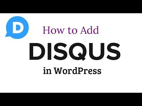 Adding Disqus to Worpress