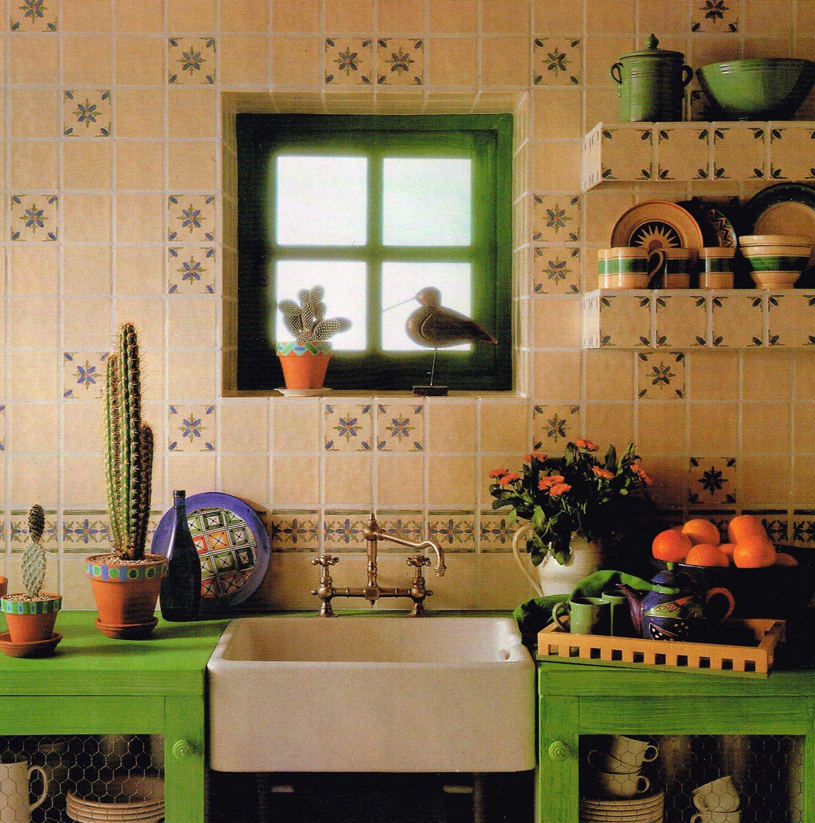 Hermosa cocina mexi color pinterest hermosa cocinas for Decoracion de cocinas rusticas mexicanas