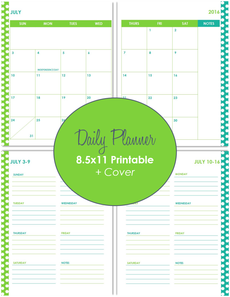 Customizable Daily Planner Printable For Keeping Up With Monthly And - Custom daily planner