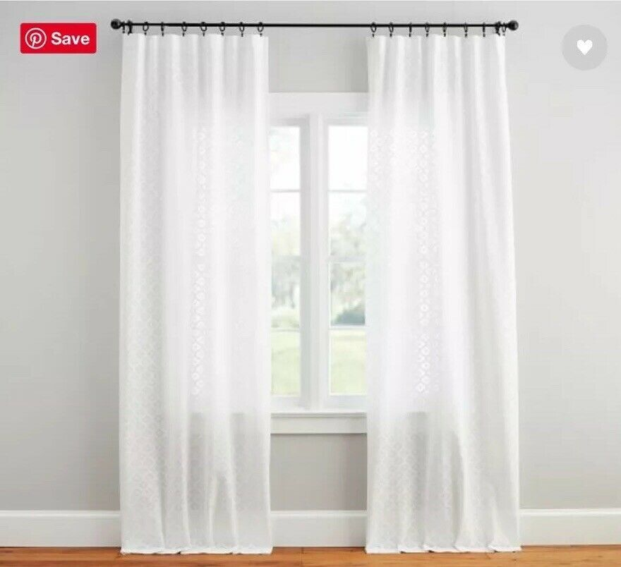 Details About New Pottery Barn Teo (2) Cala Jacquard Sheer