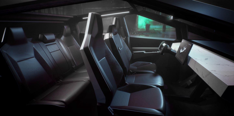 Tesla Cybertruck Interior With Images Truck Interior Tesla