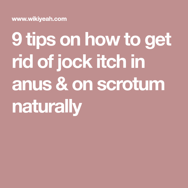 Picture jock itch anus