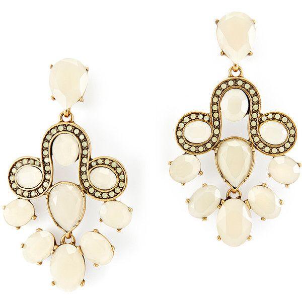 Rental Oscar de la Renta Empress Chandelier Earrings ($65) ❤ liked on Polyvore featuring jewelry, earrings, grey, long chandelier earrings, swarovski crystal jewelry, chandelier earrings, chandelier clip earrings and clip-on earrings