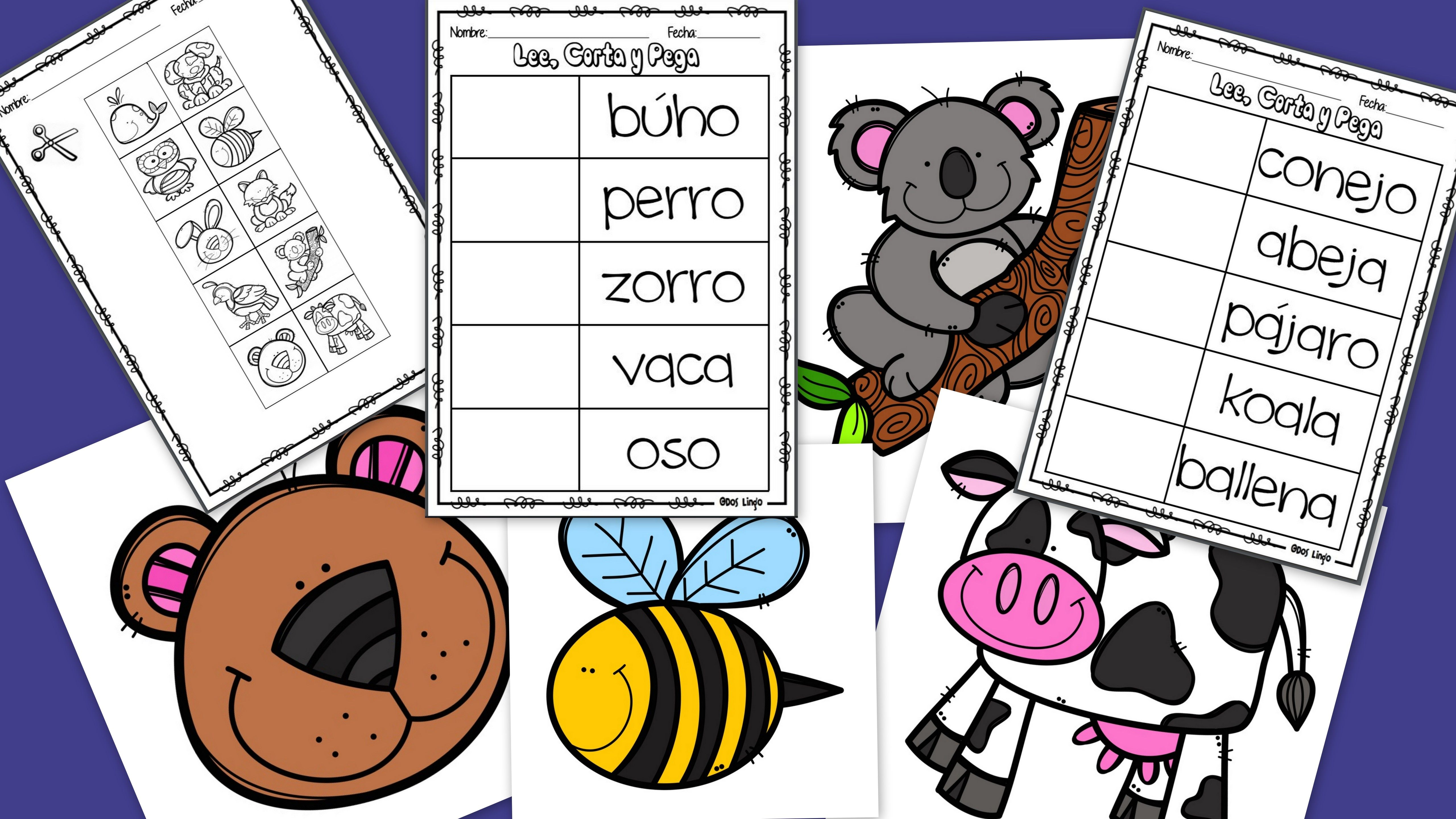 Lee Corta Y Pega Reading Comprehension Worksheets