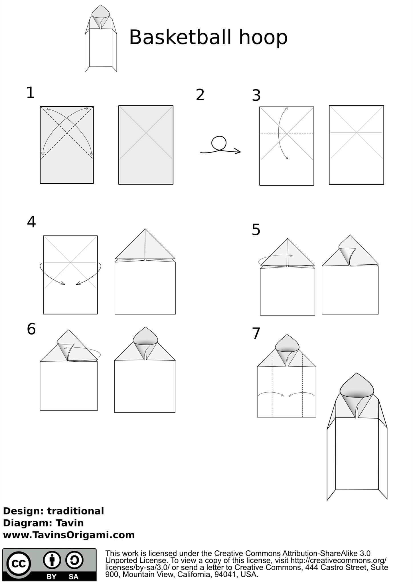 How To Make A Basketball Hoop Origami Style Basketball Hoop Origami Origami Diagrams