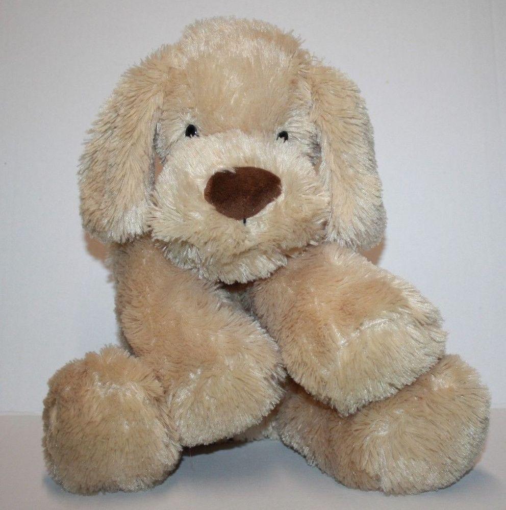 Animal Adventure Dog 14 Beige Brown Plush Nose Floppy Stuffed