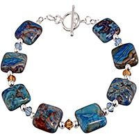 Blue Crazy Lace Agate Bracelet at The Hunger Site
