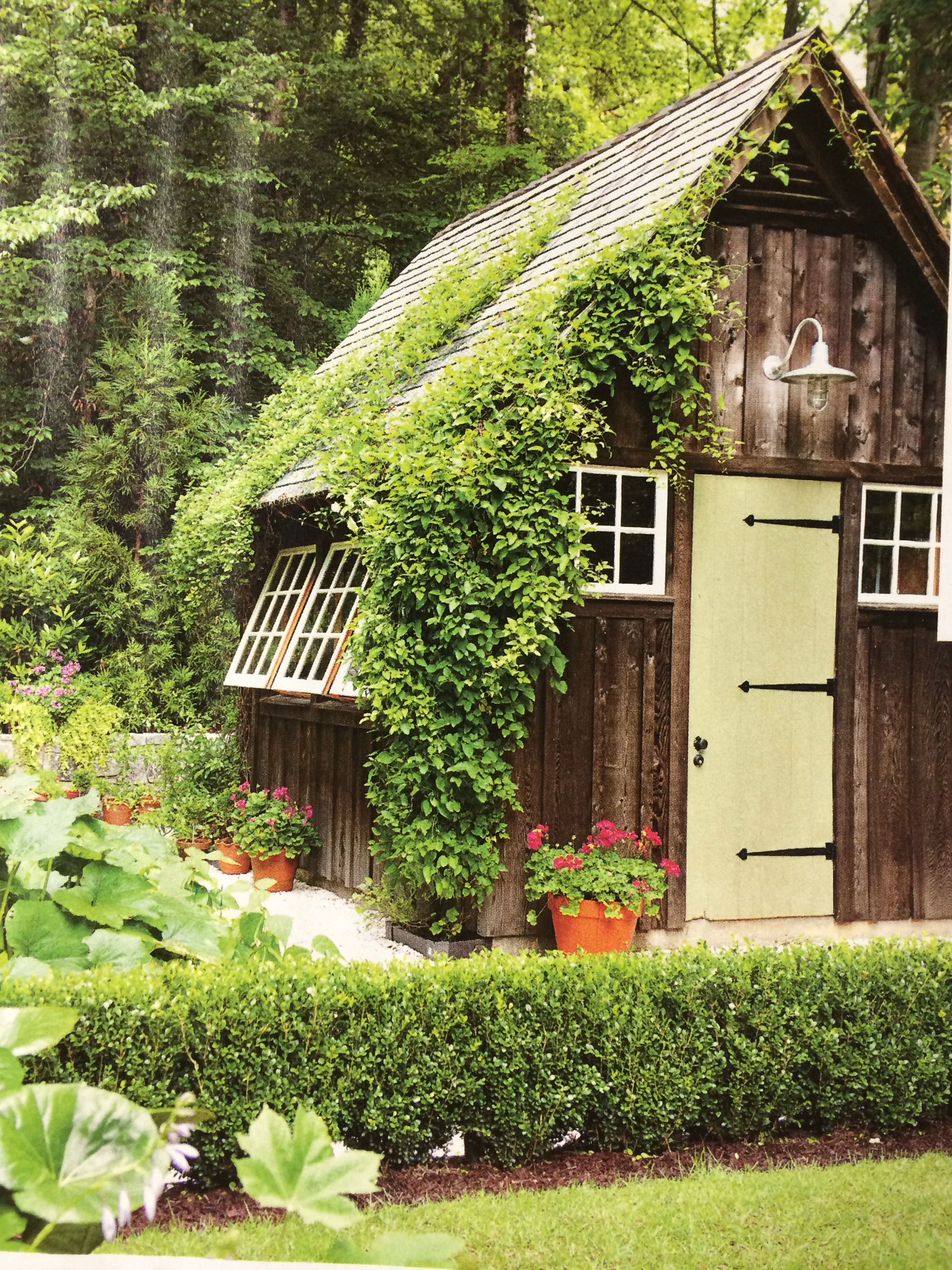Garden Shed Designed By Carolyn Llorens Love The Clematis Vines