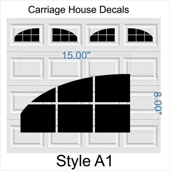 Carriage House Faux Window Garage Door Vinyl Decals Fits 8 X Etsy Garage Doors Vinyl Garage Doors Garage Door Design