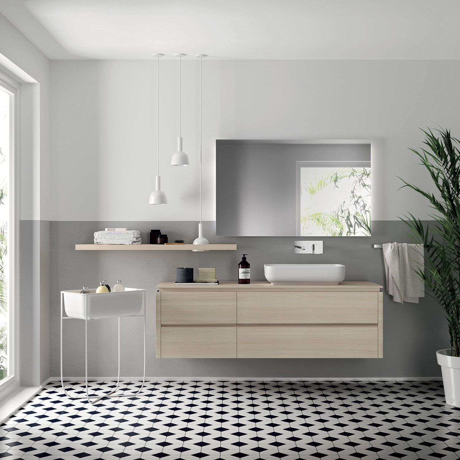 bathroom furniture set ki by scavolini bathrooms design nendo - Bathroom Design Houston