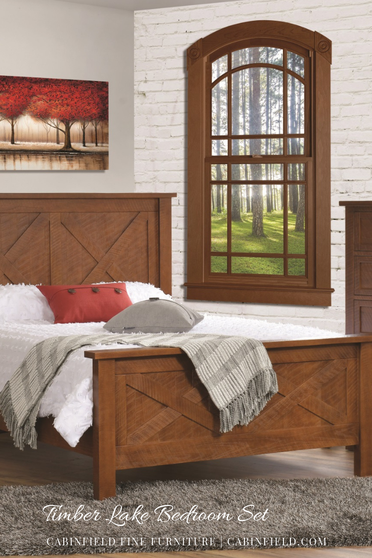 Timber lake amish bedroom set in amish furniture by