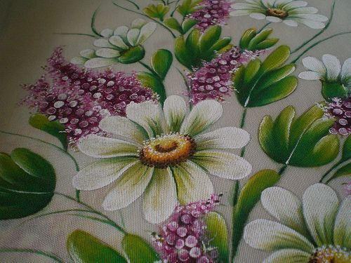 diseños de flores para pintar en tela - Buscar con Google