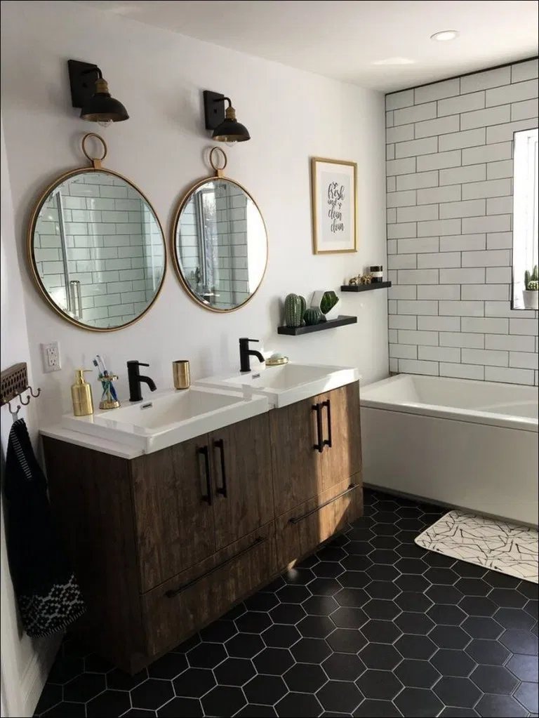 79 attractive farmhouse master bathroom remodel ideas on best bathroom renovation ideas get your dream bathroom id=42247