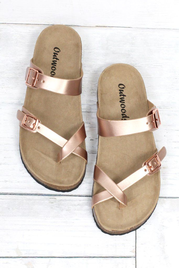 1e72ee341da1 Similar looking to the Birkenstock sandals at a fraction of the cost! Toe  strap