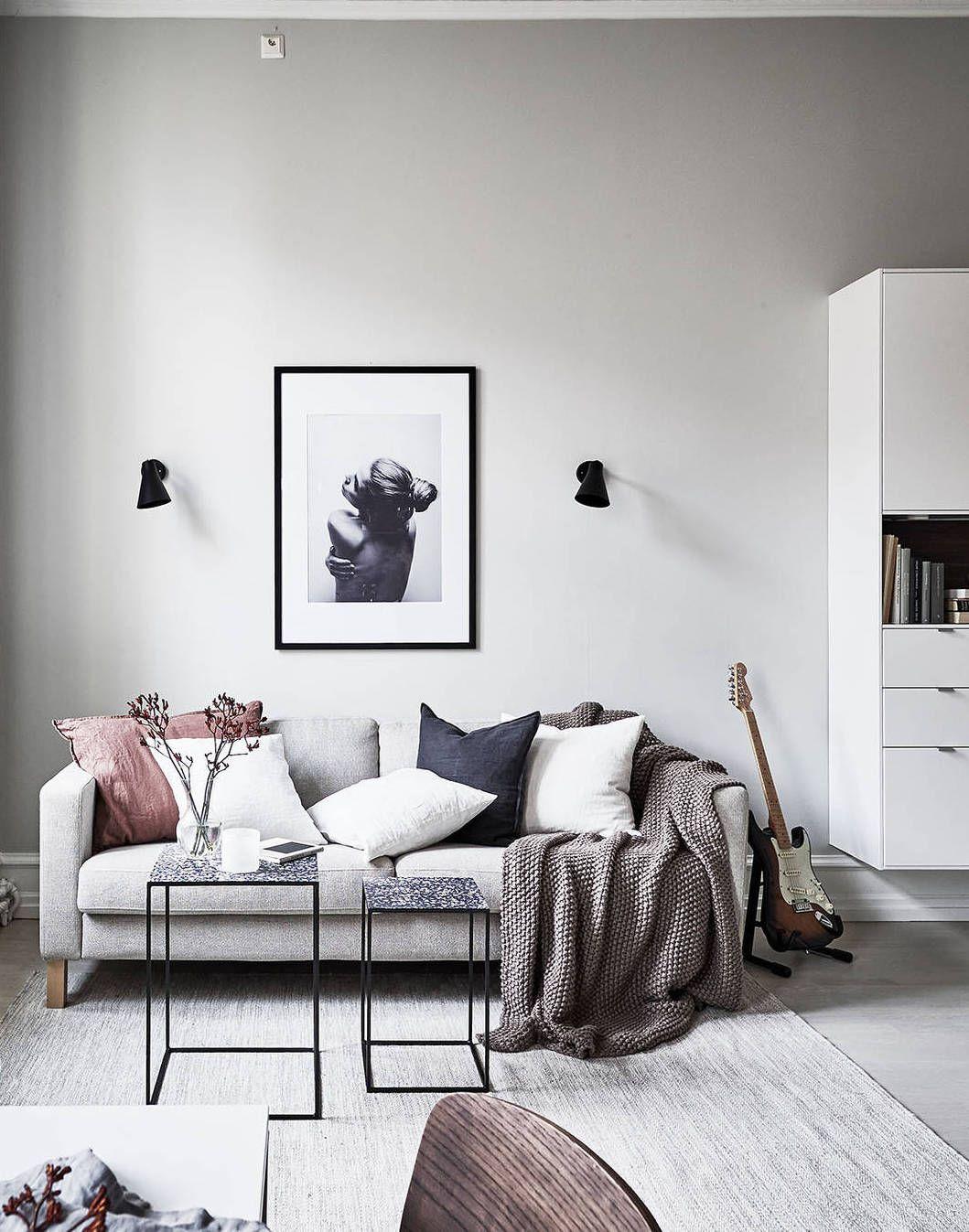 Monochrome Living Room Decorating Beautiful Duplex Home Via Coco Lapine Design Living Room