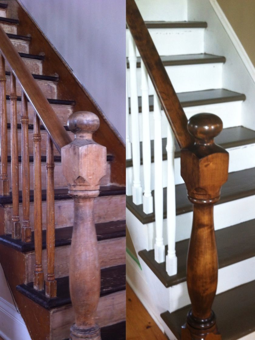 Best Refinishing Of 1900 Banister Staircase Staircase Home 400 x 300