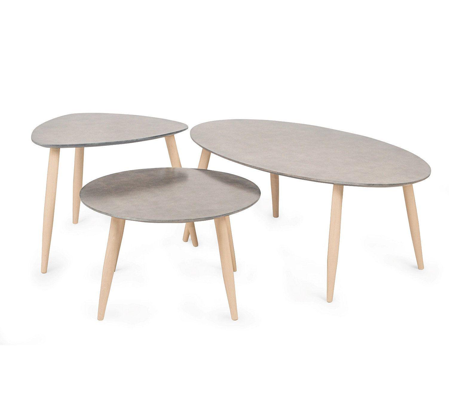 Table Basse Scandinave Manon Triangle Beton Table Basse Table Basse Marbre Meuble Table Basse