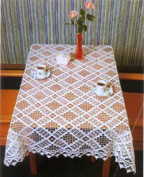 Crochet: tablecloth   Crochet   Pinterest   Tischdecken und Häkeln