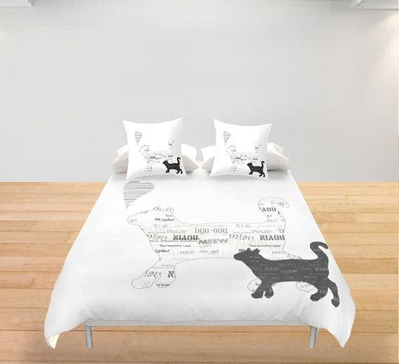 Black and white cats Duvet Cover Personalized King Queen by Narais ...