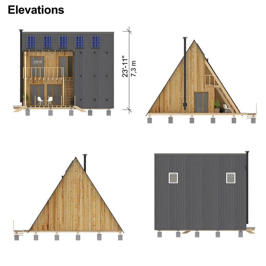 Two Story Flat Roof House Plans A Frame House House Plans Flat Roof House