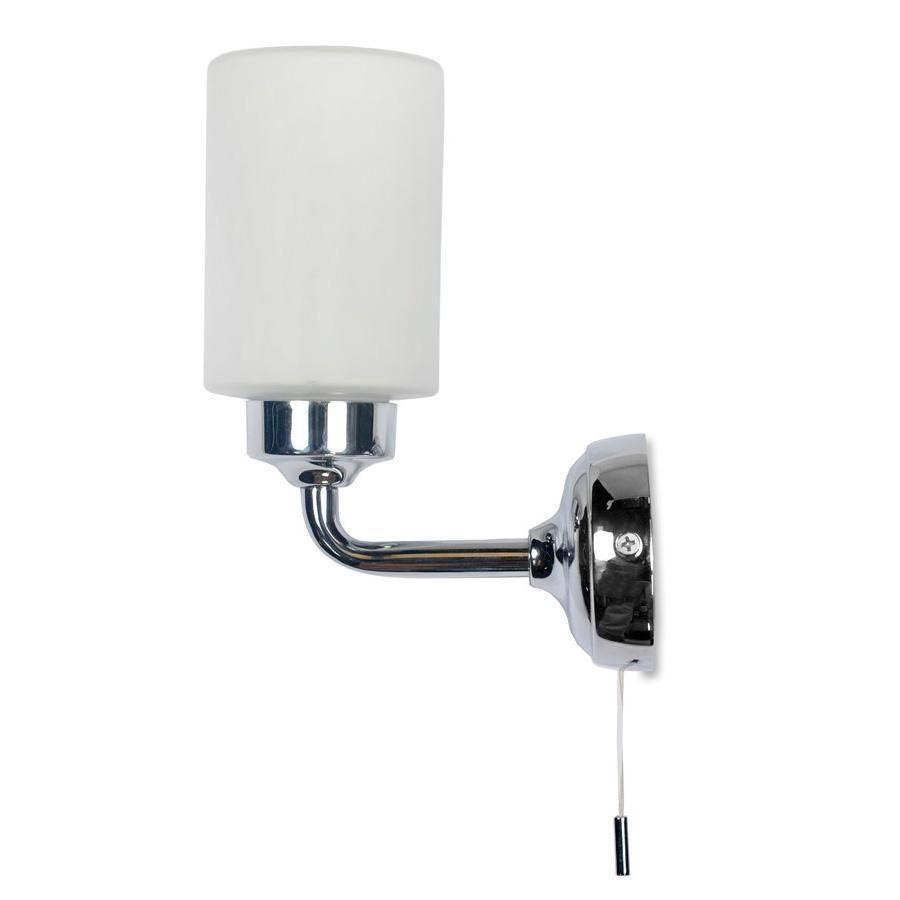 Greenwich Bathroom Wall Light in Chrome - pull cord | Bathroom ...