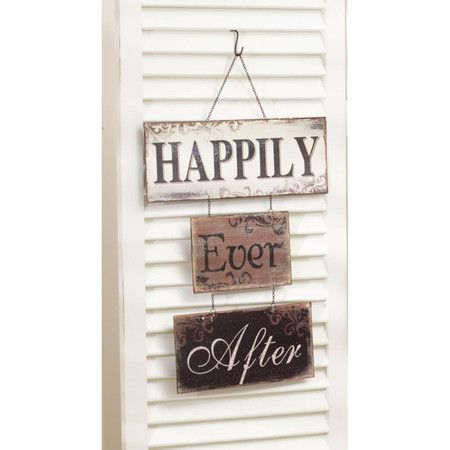 Metal Sign Wall Decor Amusing Found It At Wayfair  Happily Ever After Metal Sign Wall Décor Decorating Design