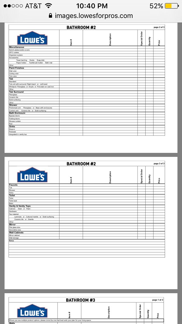 Lowes project checklist    imageslowesforpros pdf - project checklist