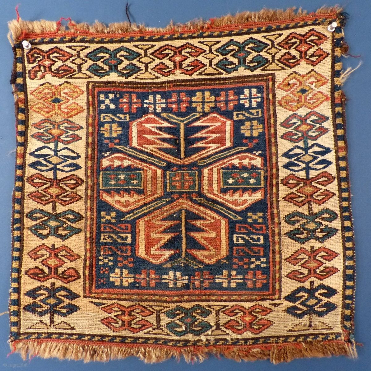 Soumac Bag Face Wool Cotton 17 1 2 X 17 Excellent Condition Price On Request Rugs On Carpet Asian Rugs Asian Textiles