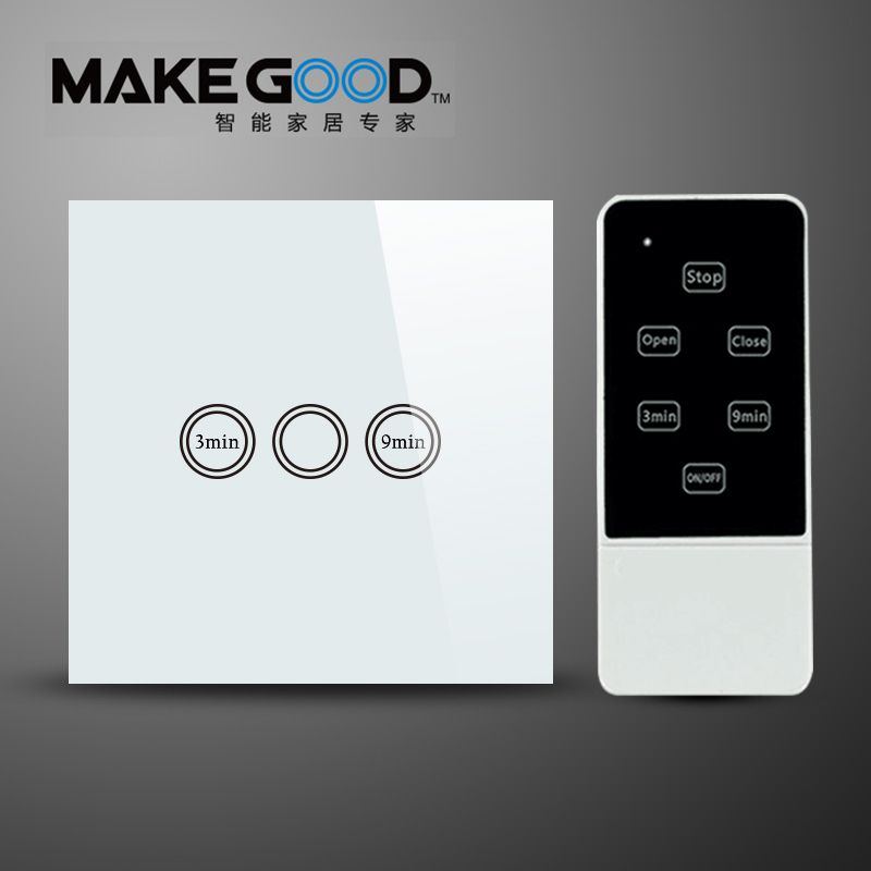 Makegood EU Type Remote Control Light Timer Switch , RF 433Mhz ...